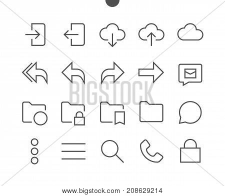 Email UI Pixel Perfect Well-crafted Vector Thin Line Icons 48x48 Ready for 24x24 Grid for Web Graphics and Apps with Editable Stroke. Simple Minimal Pictogram Part 4-5