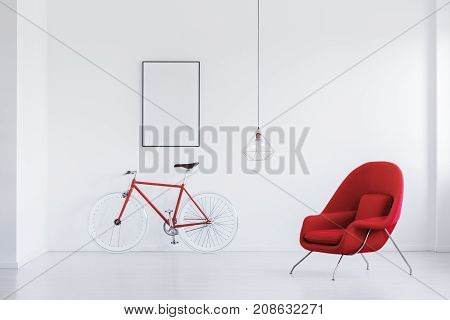 Red And White Bicycle