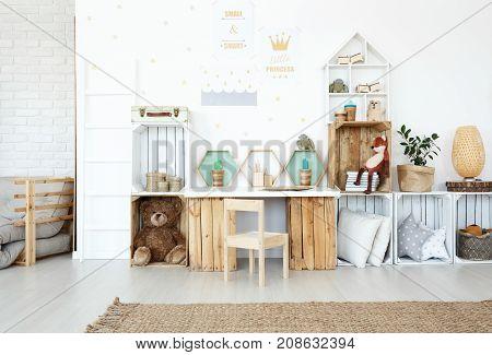 Plush Toys In Child's Room