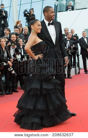 CANNES, FRANCE - MAY 16:  La La Anthony, Carmelo Anthony  attend the 'Loving' premiere during the 69th annual Cannes Film Festival at the Palais des Festivals on May 16, 2016 in Cannes