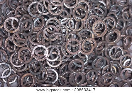 Lock Washers Are Treated With An Anti-corrosion Compound, In A Chaotic Order In The Box