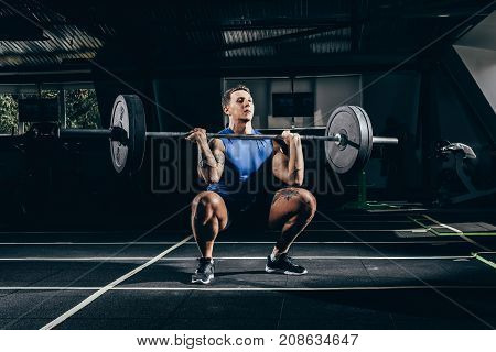 Sportsman Lifting Barbell