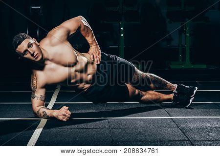 Sportsman Doing Side Plank