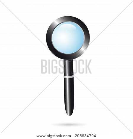 Icon magnifying glass on a white background