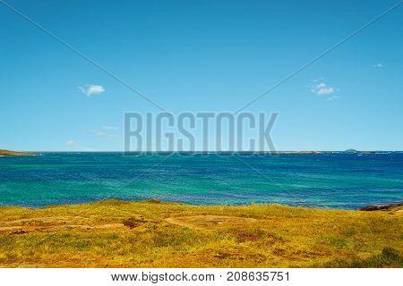 Cape Leeuwin sea along the Indian Ocean Augusta Western Australia .