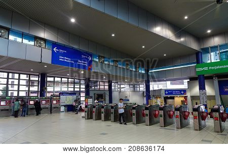 Metro Station In Kuala Lumpur, Malaysia