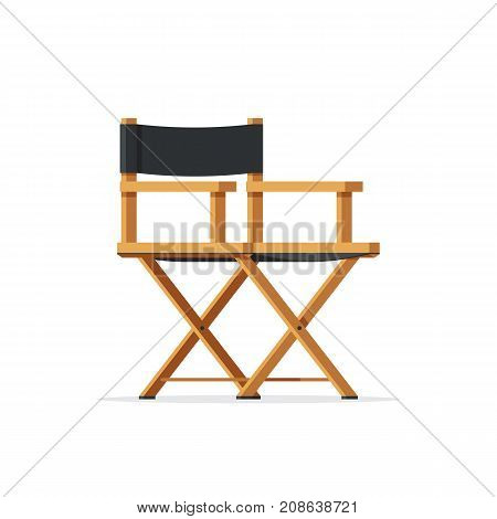 Director movie chair icon. Cinema industry concept symbol. Vector illustration in trendy flat style design isolated on white background