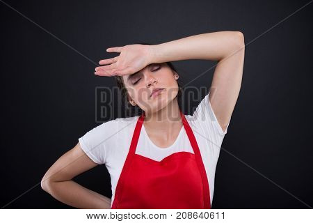 Tired Employee Having A Migraine Headache