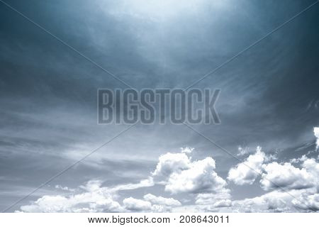 Black and white scene of sky and clouds background