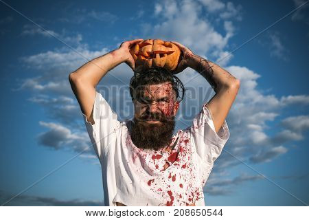 Halloween Hipster Grinding Teeth With Anger