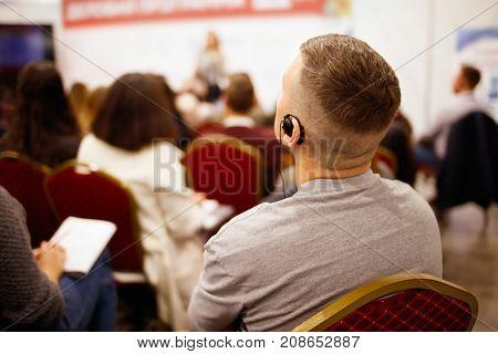 Man jn Meeting Room, Business Meeting, Leadership Concept