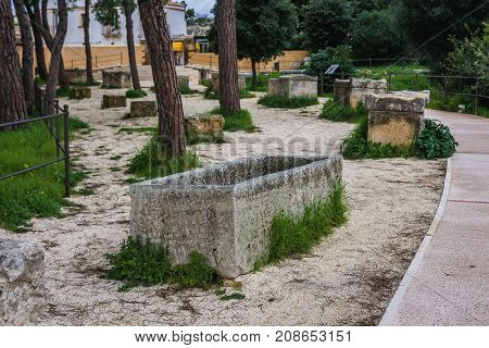 Neapolis Archaeological Park in Syracuse Sicily Island of Italy