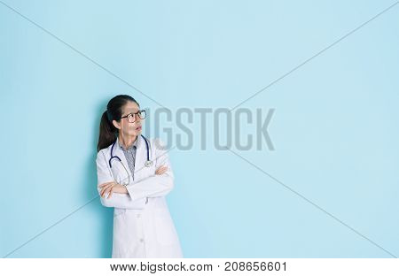 Young Hospital Female Doctor Having Problem