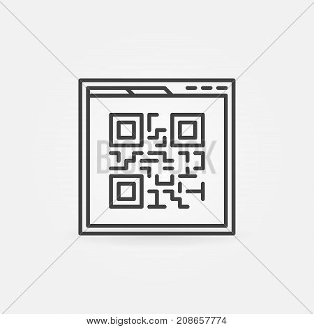 Webpage Qr code vector linear icon or design element