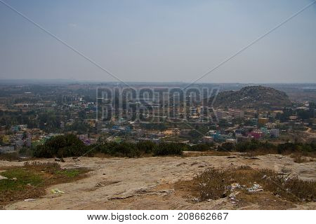 photo landscape of an Southern Indian town