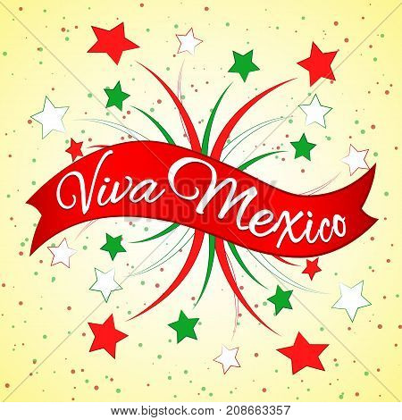 Viva Mexico On A Red Ribbon
