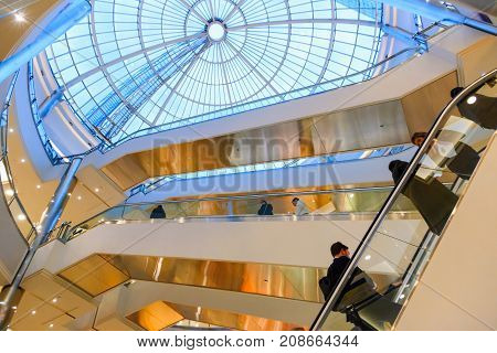Glass Dome In Canary Wharf Shopping Centre