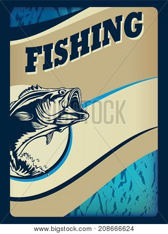 Fishing Card Banner Blue