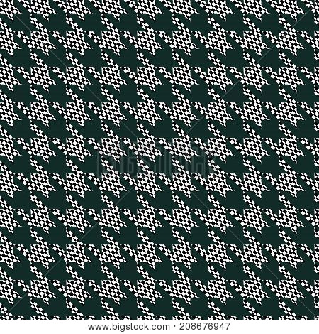 Seamless black and white houndstooth vector pattern-vector illustration. The texture of the rectangles. Original design.