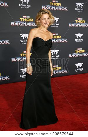 Elsa Pataky at the World premiere of 'Thor: Ragnarok' held at the El Capitan Theatre in Hollywood, USA on October 10, 2017.