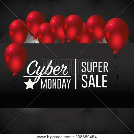 cyber monday offer to special sale vector illustration