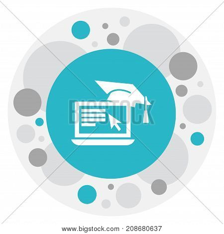 Vector Illustration Of Education Symbol On Education Computer Icon