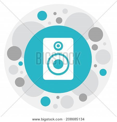 Vector Illustration Of Song Symbol On Sound Loudspeaker Icon
