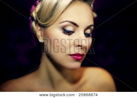 Beautiful Female Face With Fashion Make-up
