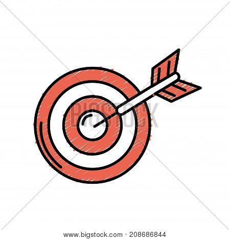 dart target board to strategy competition vector illustration
