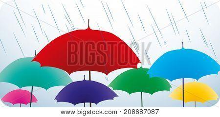 Colored umbrellas