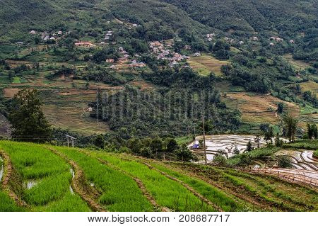 Rural Scenery In Sapa, Northern Vietnam