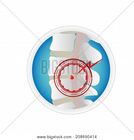 herniated disc spine bone and nerve close up spinal coard concept health care