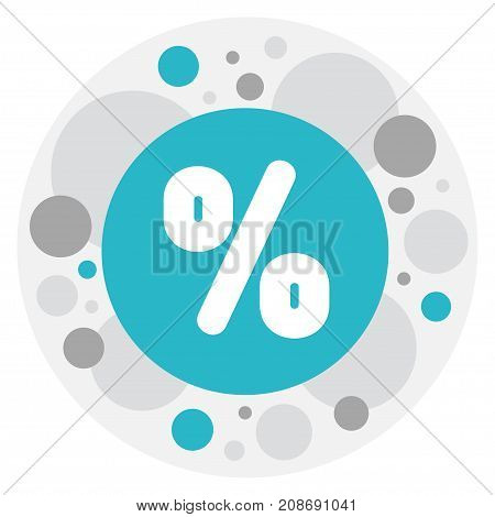 Vector Illustration Of Trade Symbol On Percent Icon