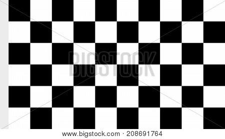 An image of checkered fabric cloth for the finish flag vector