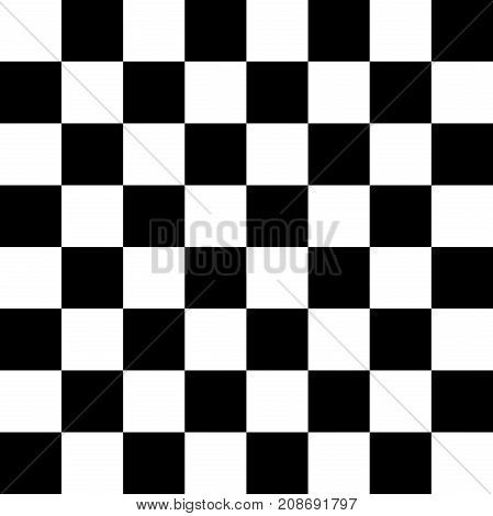 An image of a sixty-four chess board for playing chess checkers etc. vector
