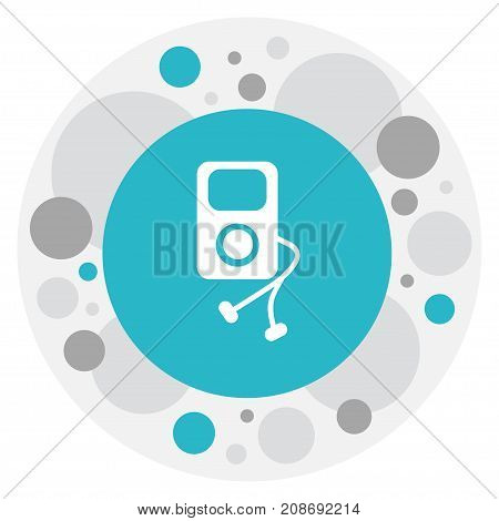 Vector Illustration Of Media Symbol On Mp3 Icon