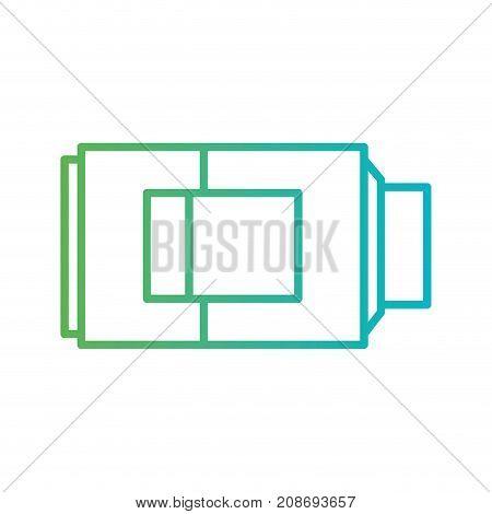 line battery capacity technology equipment vector illustration