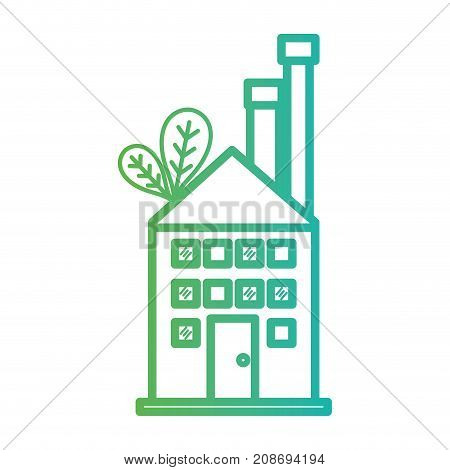 line toxic factory pollution industry vector illustration