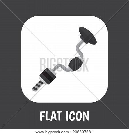 Vector Illustration Of Apparatus Symbol On Drill Flat Icon