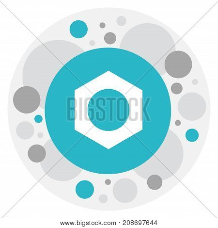 Vector Illustration Of Tools Symbol On Nut Icon