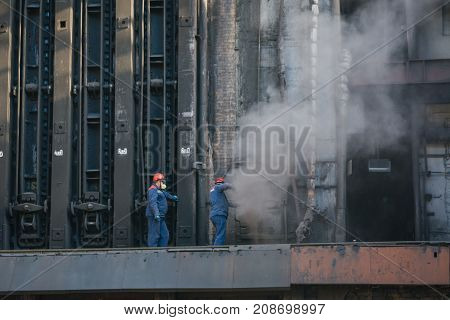 Coke Furnace. Proizvodsvto Of Coke. Steel Works. Nlmk. Altai Coke. Coke