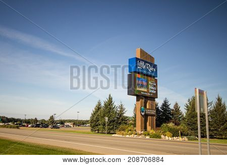Manistee, Michigan, USA - October 1, 2017: The Little River Casino and Resort in Manistee, Michigan is owned and operated by the Little River Band of Ottawa Indians.