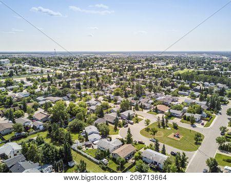 Residential Area Of Grande Prairie, Alberta, Canada