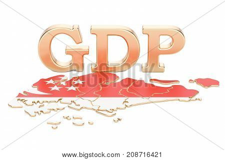 gross domestic product GDP of Singapore concept 3D rendering isolated on white background