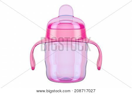 Non-spill cup for baby 3D rendering isolated on white background