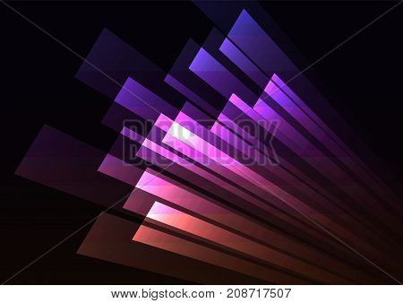 pink corner speed abstract background, purple square layer rush line, technology geometric background, vector illustration