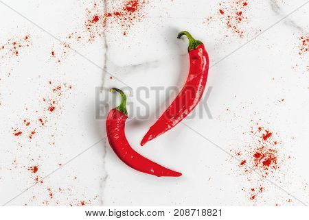 Fresh And Ground Chili Pepper