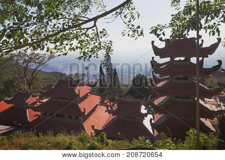 Temple Of Nirvana Buddha On Ta Cu Mountain Vietnam