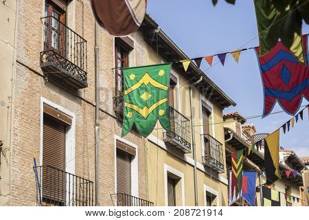 traditional medieval festival in the streets of Alcala de Henares, Madrid Spain