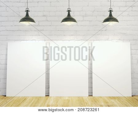 Interior With Empty Posters